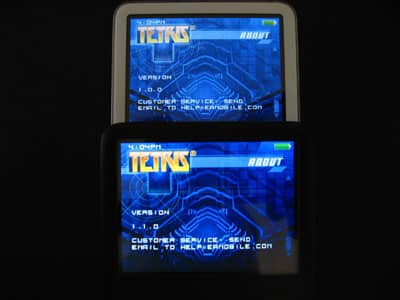 Changes to iPod Games Versions 1.1.0