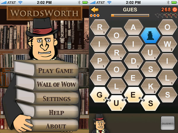iPhone Gems: Alpine Racer, Sway, Word Fu, WordsWorth, and Letter Bug