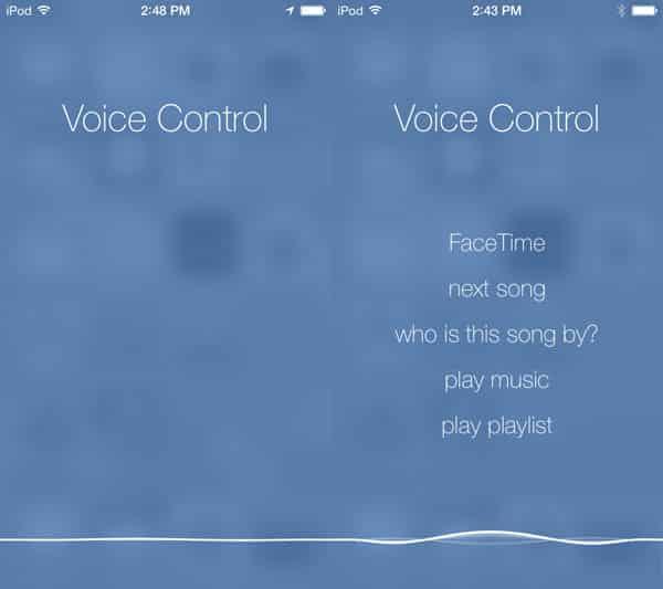 iOS 7: Siri + Voice Control