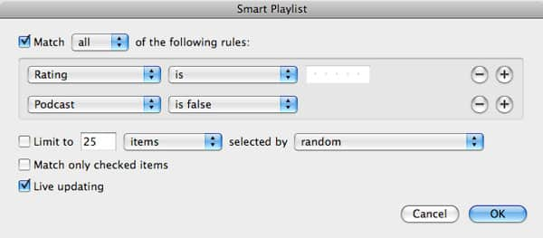 Excluding podcasts from Smart Playlists