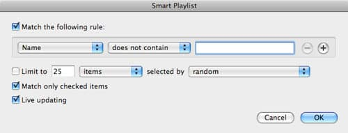 Unchecked items do not play in iTunes