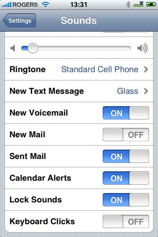 Customizing iPhone alerts