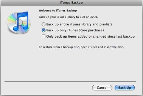 Finding and backing up purchased music
