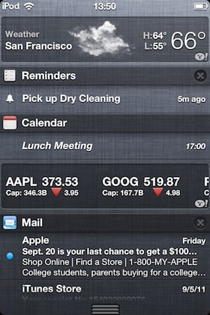 Notification Center and iMessage in iOS 5