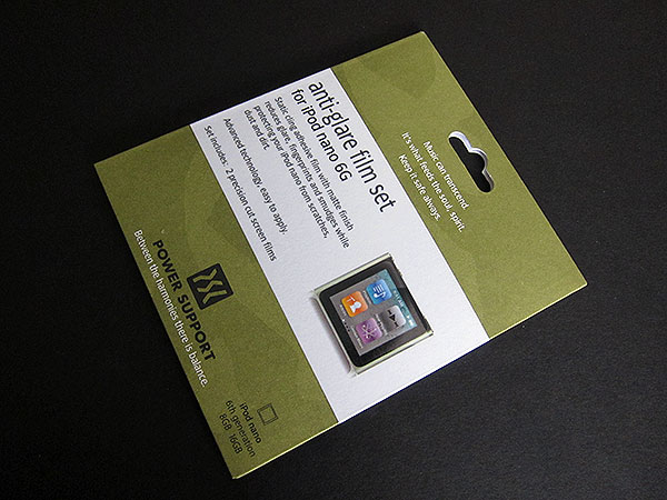 First Look: Power Support Anti-Glare + Crystal Screen Film for iPod nano 6G + iPod touch 4G