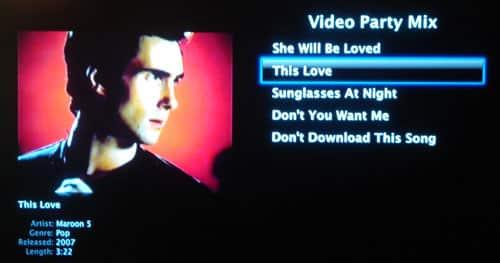 Music Video playlists on Apple TV