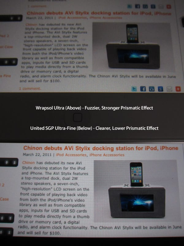 Review: Wrapsol Ultra Screen Protector Film for iPad 2