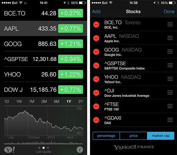 iOS 7: Weather, Stocks, Calendar + Reminders