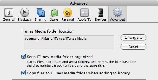 Recovering iTunes onto an external hard drive