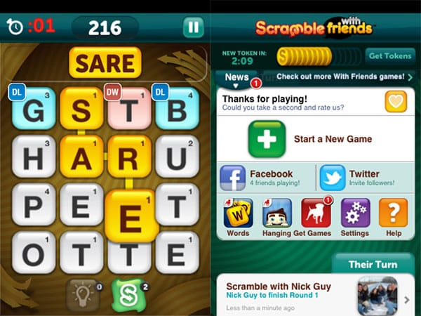 iOS Gems: Adventures of Tintin, Reckless Racing 2 + Scramble With Friends