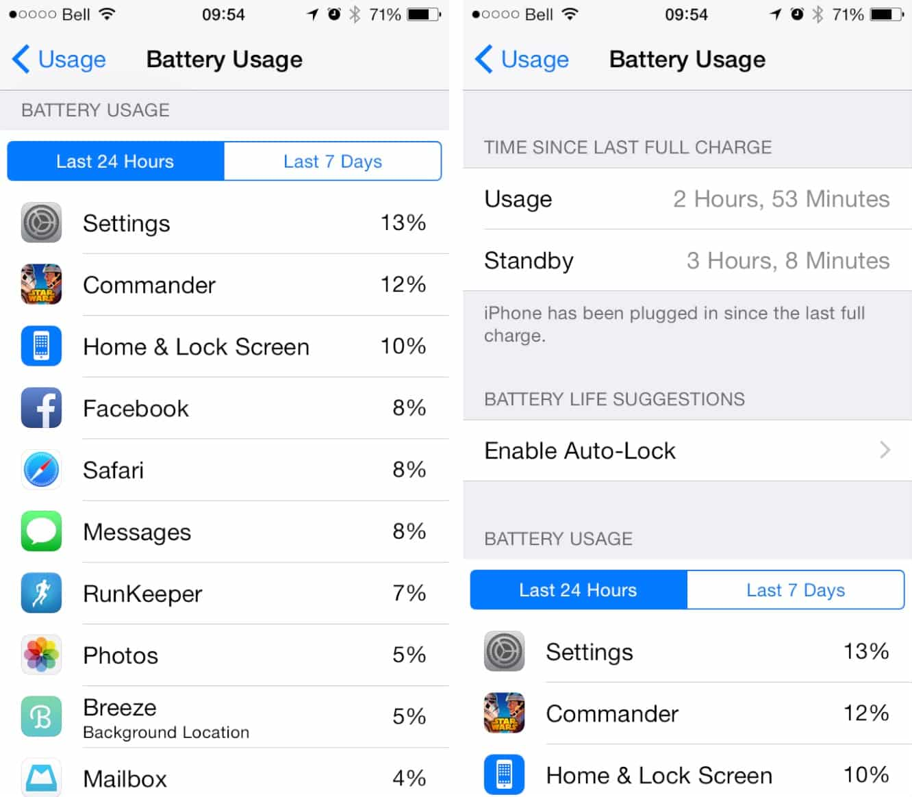 Monitoring Battery Usage in iOS 8