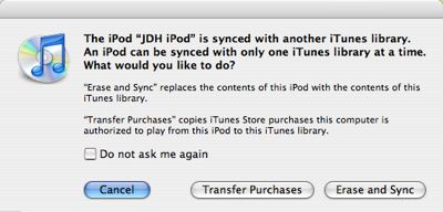 Transferring purchased content between iTunes accounts