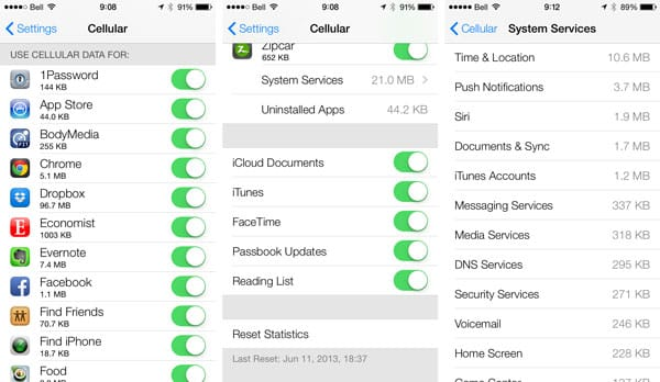 iOS 7: Settings, Including Accessibility + Wallpaper