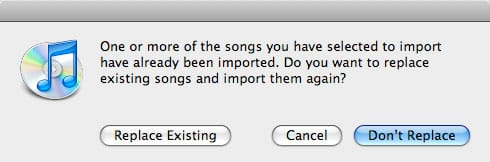 Reimporting CDs into iTunes