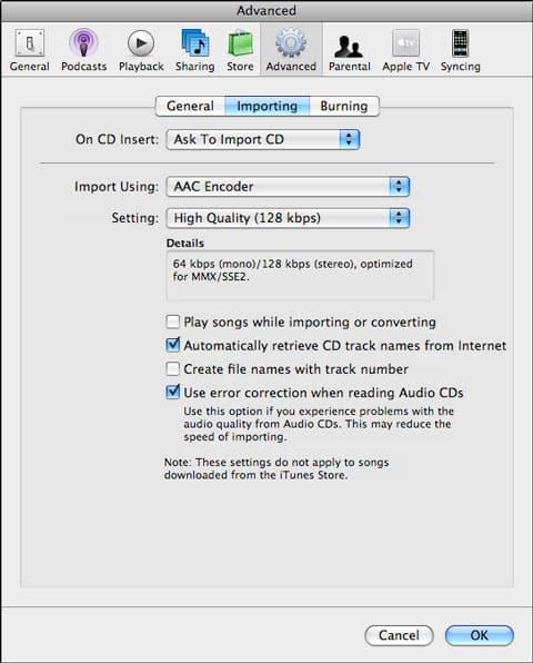 Importing audiobooks