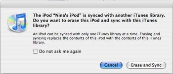Sync iPod with a new computer
