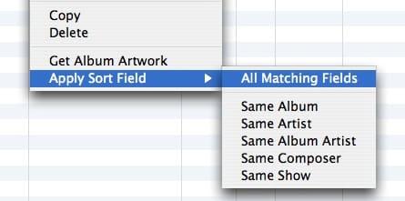 Sorting in iTunes 7.3