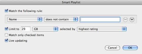 Syncing a library larger than your iPod capacity