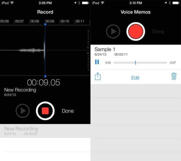 iOS 7: Nike + iPod, Photo Booth + Voice Memos