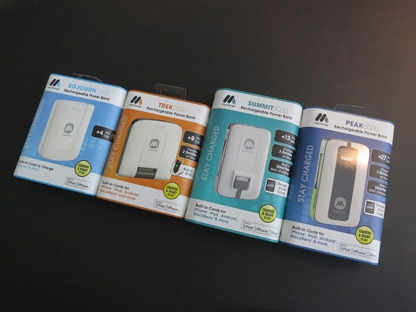 Review: MyCharge Sojourn, Trek, Summit + Peak Rechargeable Power Banks