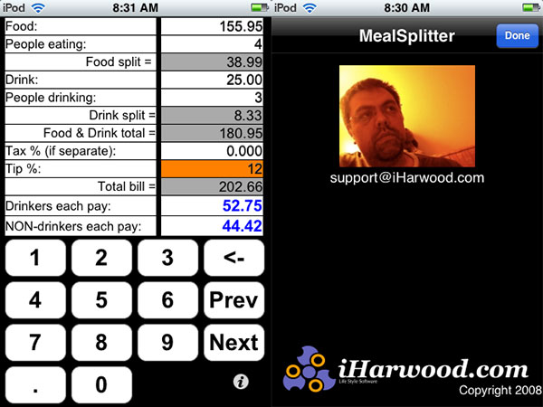 Review: Meal Splitter and Meal Splitter v2 by iHarwood