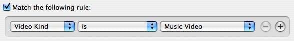 Music Video organization in iTunes