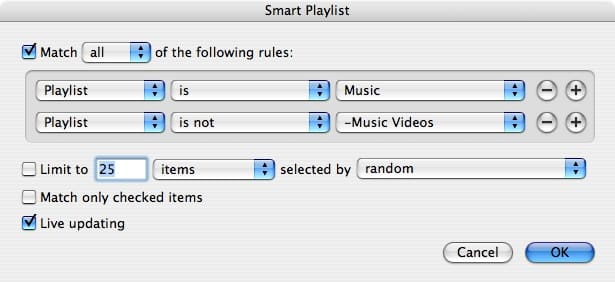 Isolating Music Videos from songs in iTunes