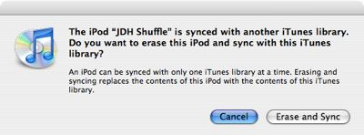 Using two iPods with the same library