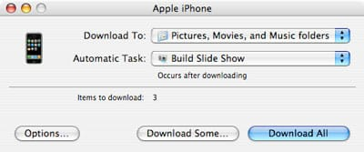 Transferring photos from iPhone