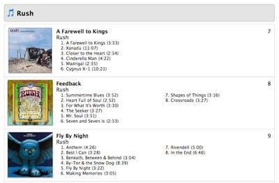 Printing track lists from iTunes