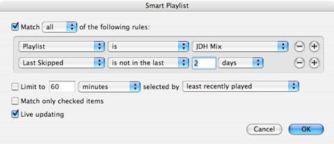 Managing your iPod content with Smart Playlists