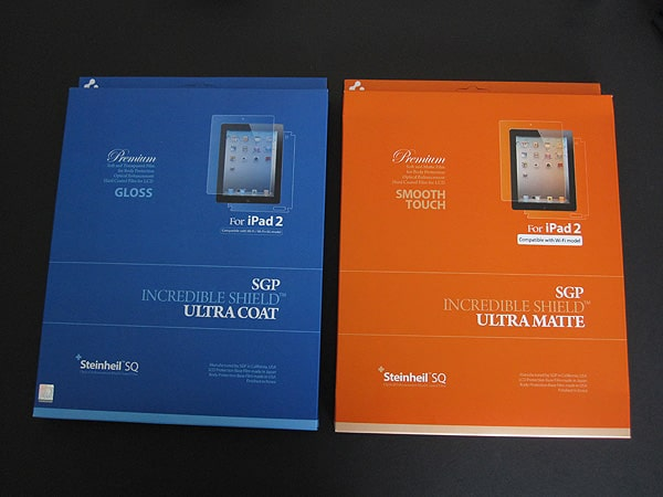 Review: United SGP Incredible Shield Ultra Coat and Ultra Matte Body Protector for iPad 2