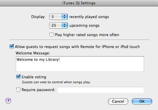Playing iTunes at a party