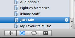 Reordering playlists manually