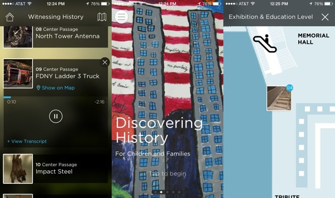 Apps: 9/11 Museum Audio Guide, Google Search 4.0.0, Haunted House + Swarm by Foursquare