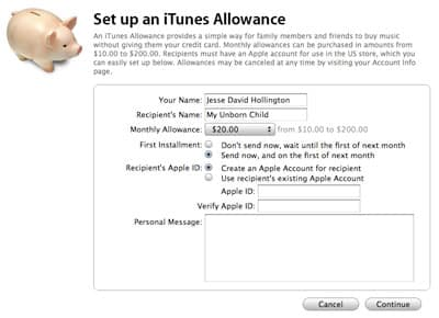 Creating an iTunes Store account without a credit card