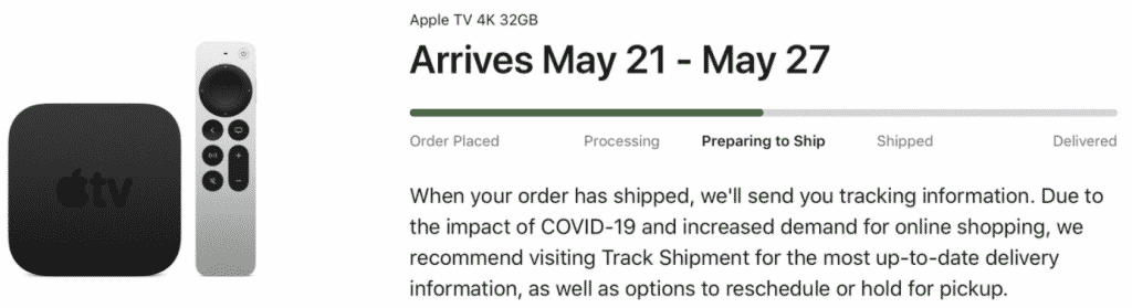 Apple TV 4K getting ready to ship