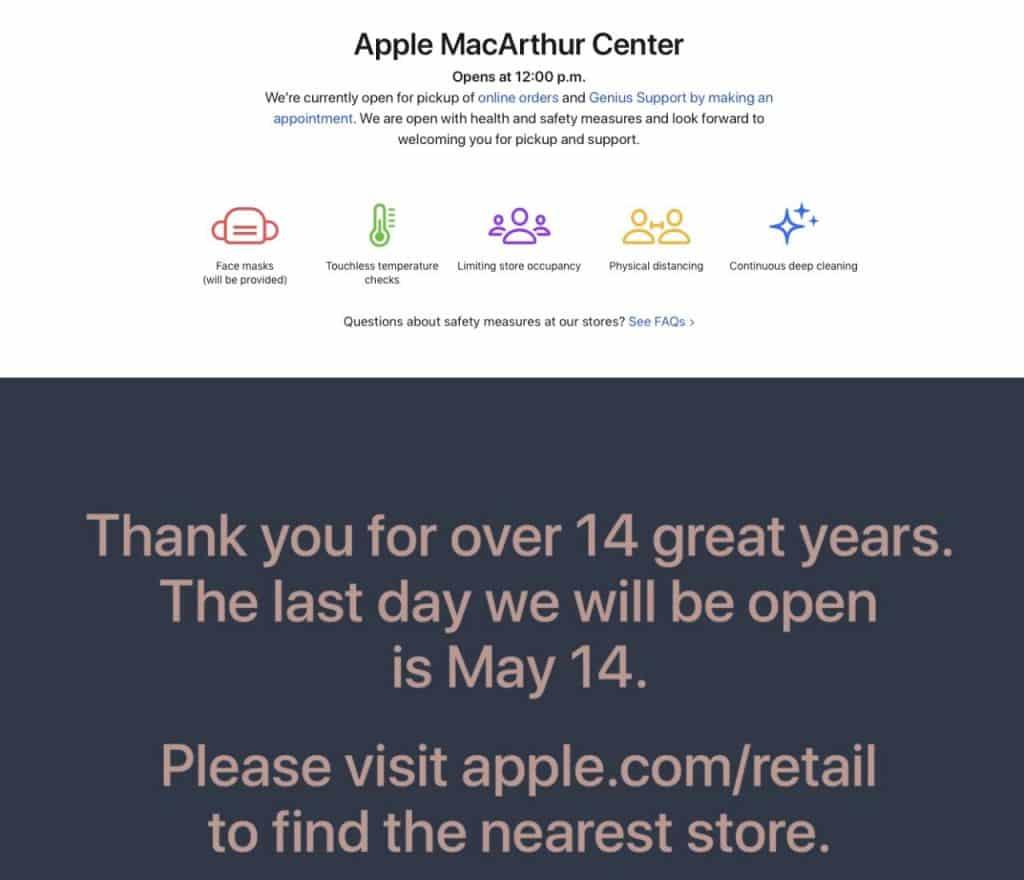 MacArthur Center Apple store