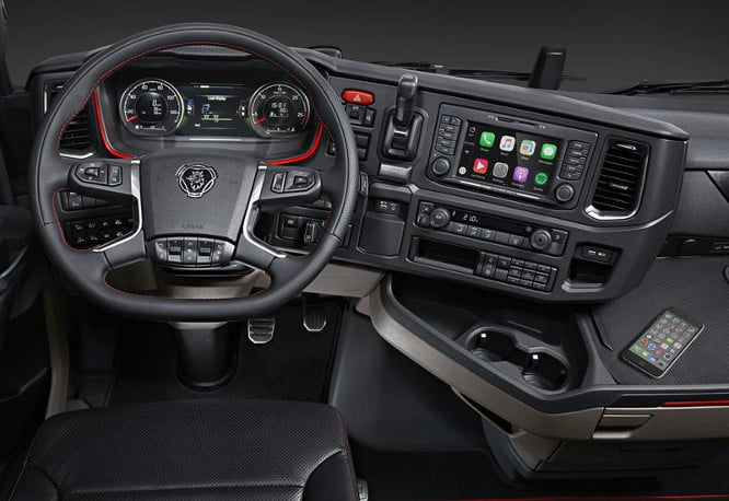 Scania becomes first company to add CarPlay to semi trucks