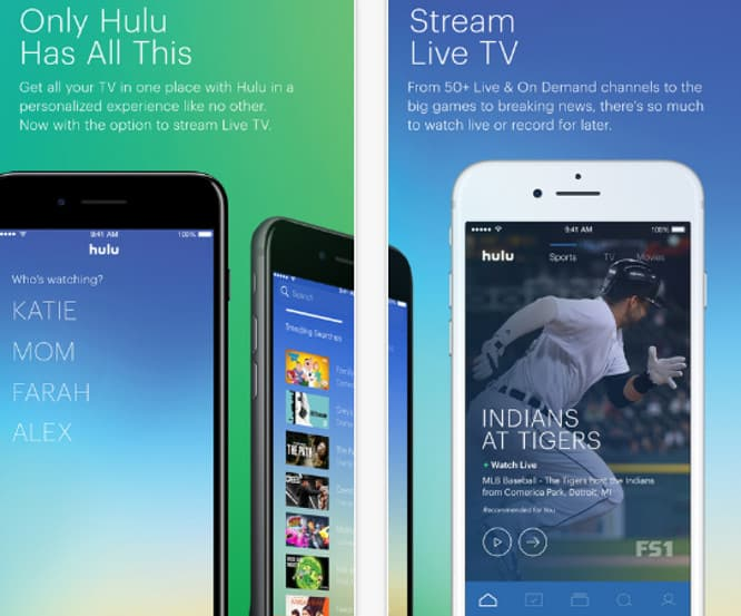 Hulu with Live TV app lands on App Store