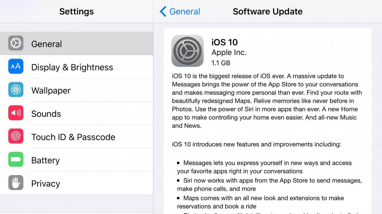 Apple releases iOS 10, watchOS 3 and tvOS 10