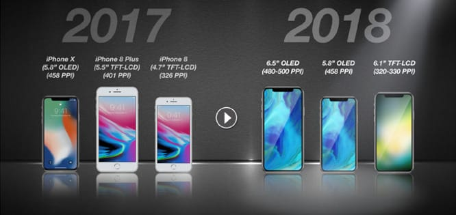 Analyst predicts two OLED models, one LCD model for all-bezel-less 2018 iPhones