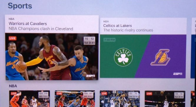 Apple reportedly integrating streaming sports into TV app next month