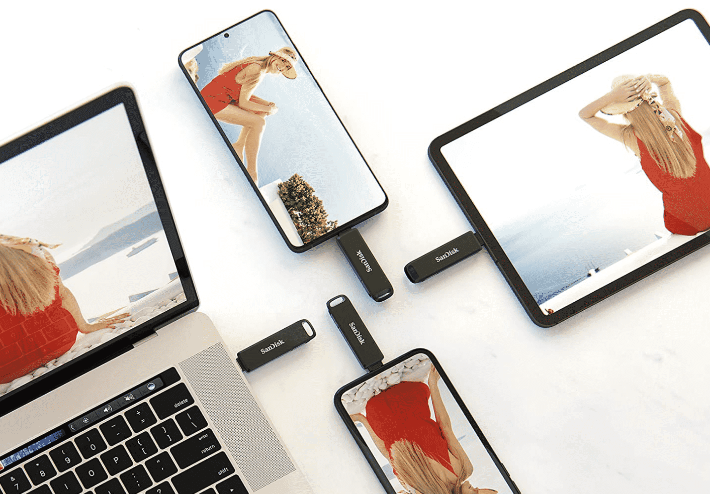 SanDisk 128GB iXpand Flash Drive Luxe for iPhone and USB Type-C Devices