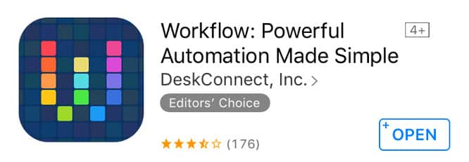 Apple refunding recent purchases of Workflow app
