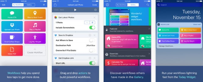 Apple restores Workflow features, adds Apple Music actions