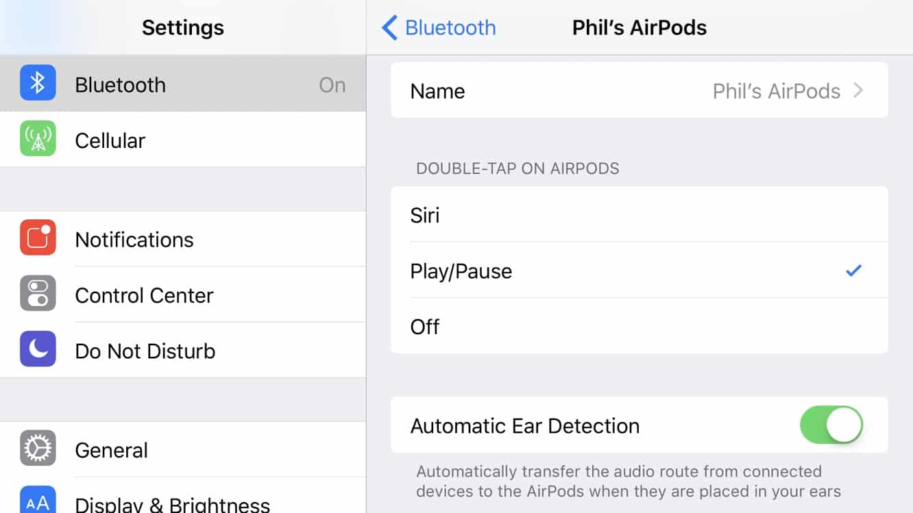 Using Double Tap to Control Play/Pause on AirPods