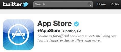 Apple launches official App Store Twitter account