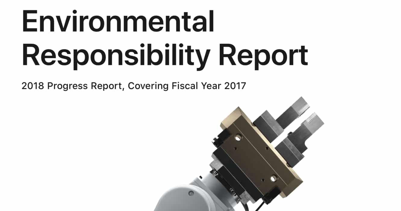 Apple releases 2018 Environmental Responsibility Report