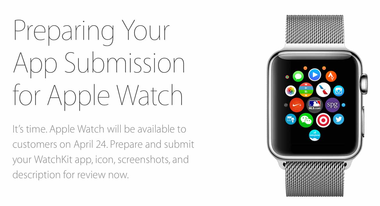 Apple now accepting all Apple Watch app submissions